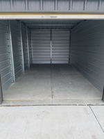 Small inside a 10  x 20  storage unit with roll up doors at v s self storage in iowa city  ia
