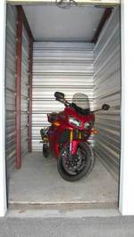 Small 5x10 oroville motorcycle storage unit