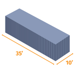 Small shipping container 35x10
