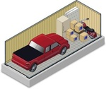 Small 10x30 storage unit w truck