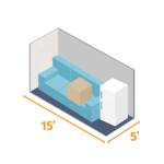 Small storage unit 15x5