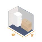 Small storage unit 10x5