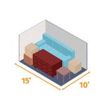 Small storage unit 15x10