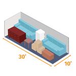Small storage unit 30x10