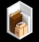 Small 5x5 storage unit