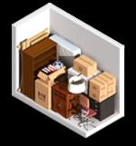 Small 5x10 storage unit