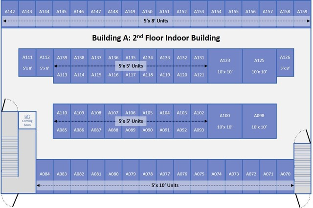 Medium bldg a 2nd floor site plan