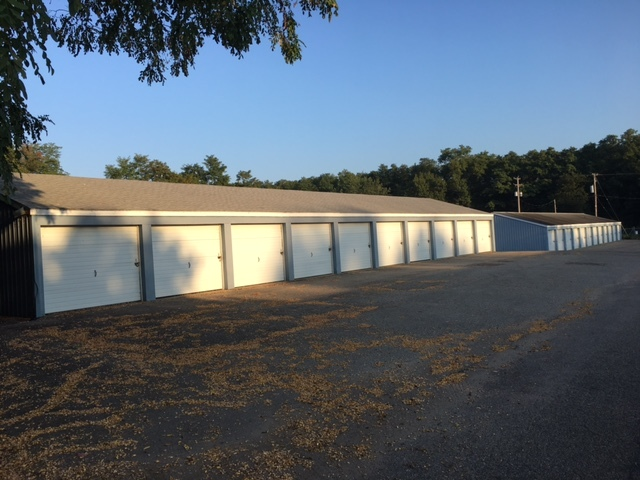 A view of the storage units at Hastings Storage.