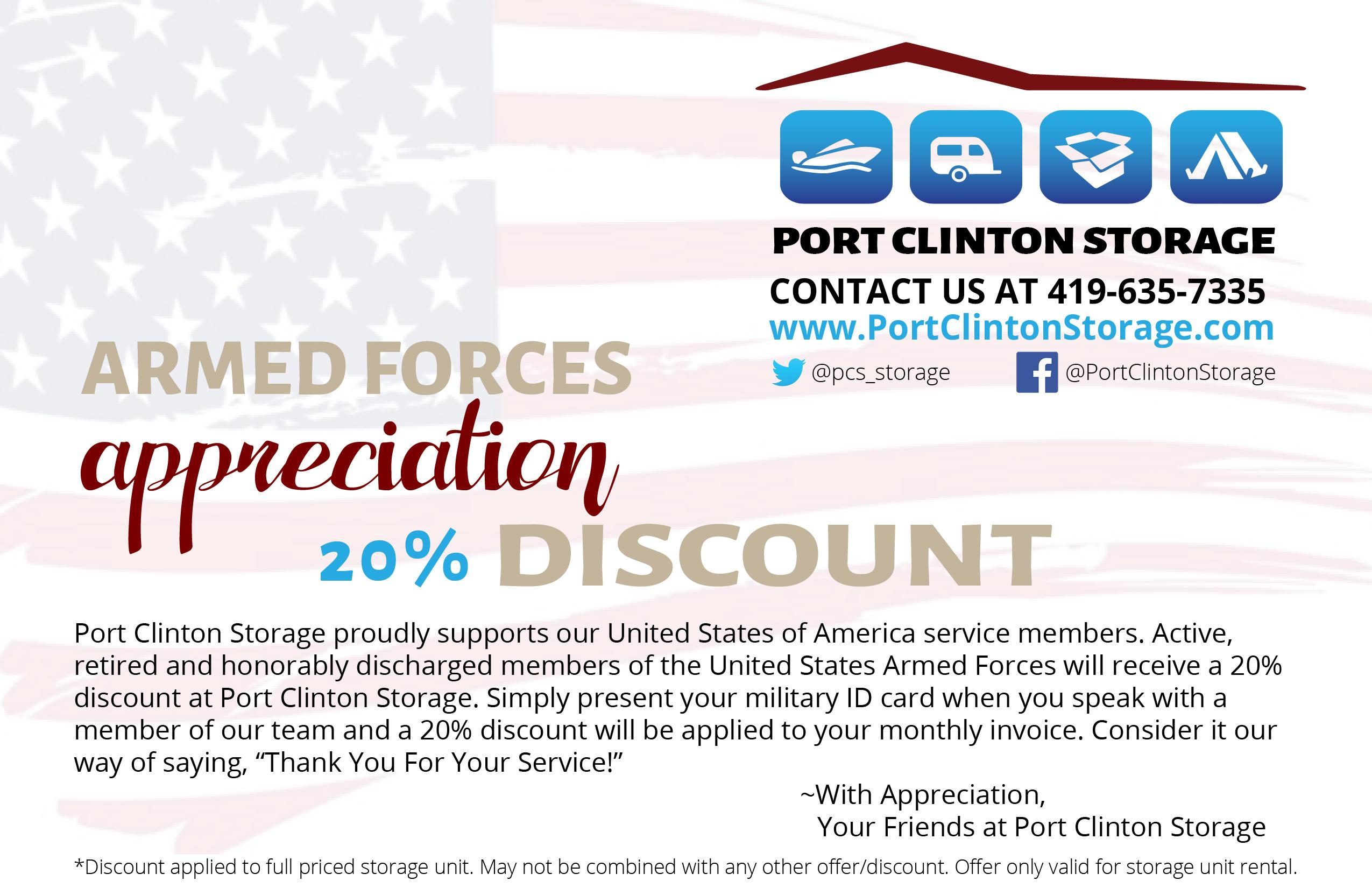 Armed Forces Appreciation Discount
