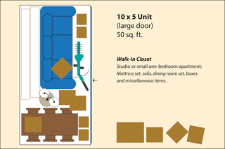 Medium small storage layout 10x5