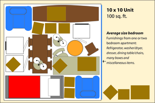 Medium small storage layout 10x10