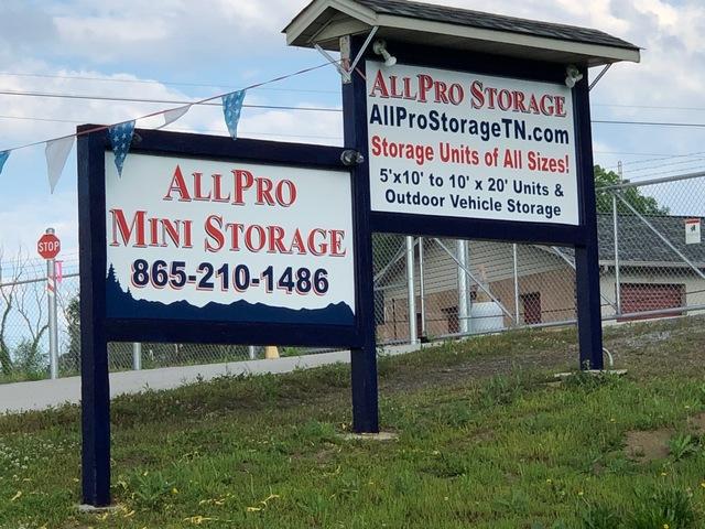 Medium all pro storage signs