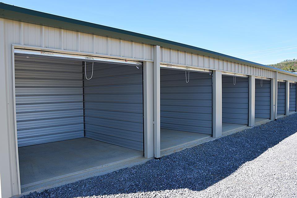Open storage units at Volunteer Mini Storage