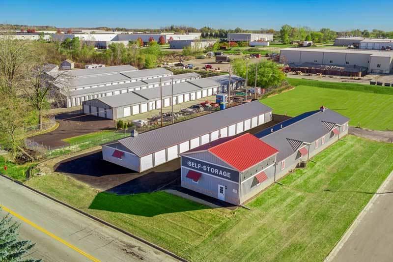 Jackson Self-Storage facility aerial view