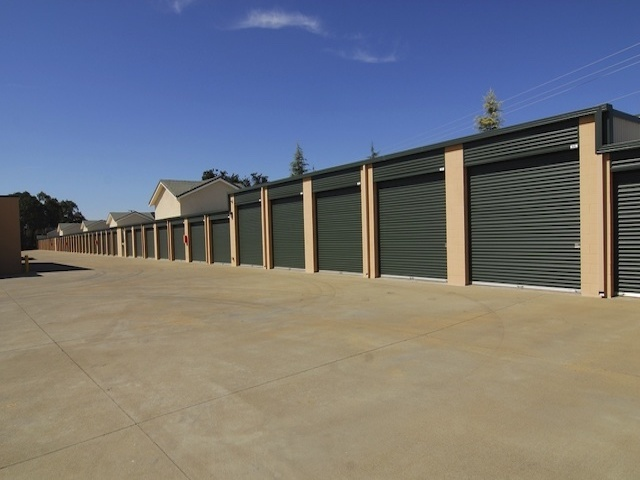 Black storage units at Superior Self Storage