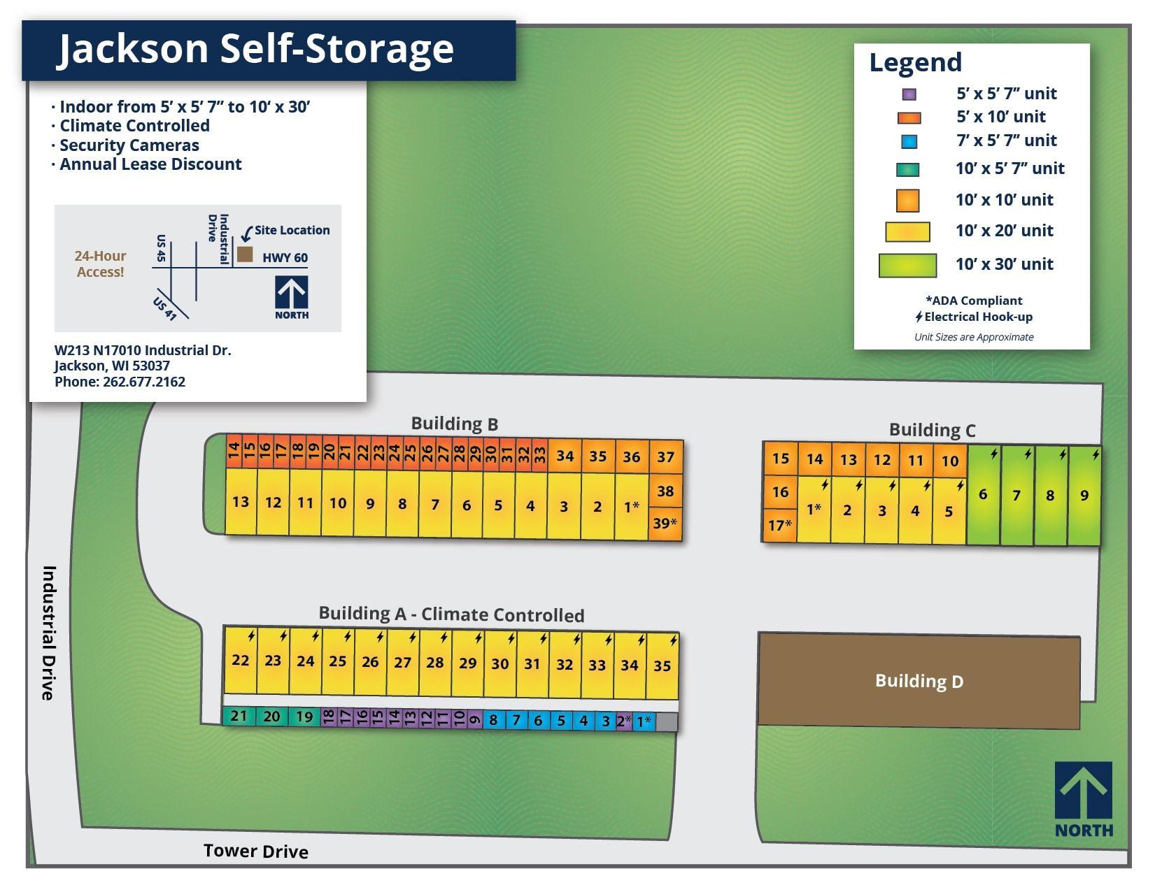 Jackson Self-Storage Map