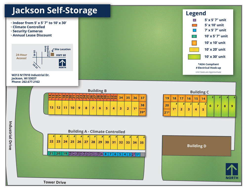 Jackson Self-Storage Map 2019