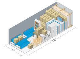 A 10' by 30' storage unit