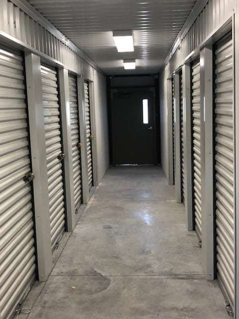 The inside of our self storage facility at A-A Plus South Kennedy Storage