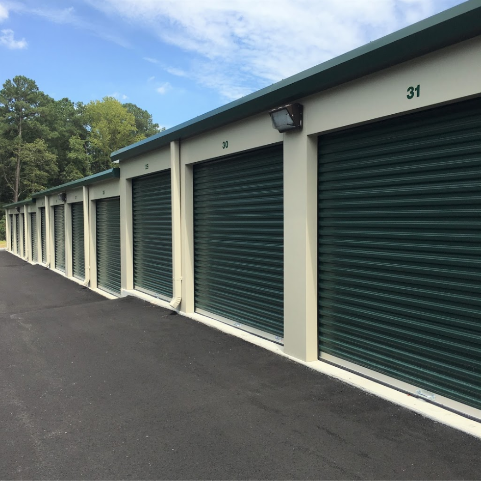 Upclose View Of Storage Unit Building