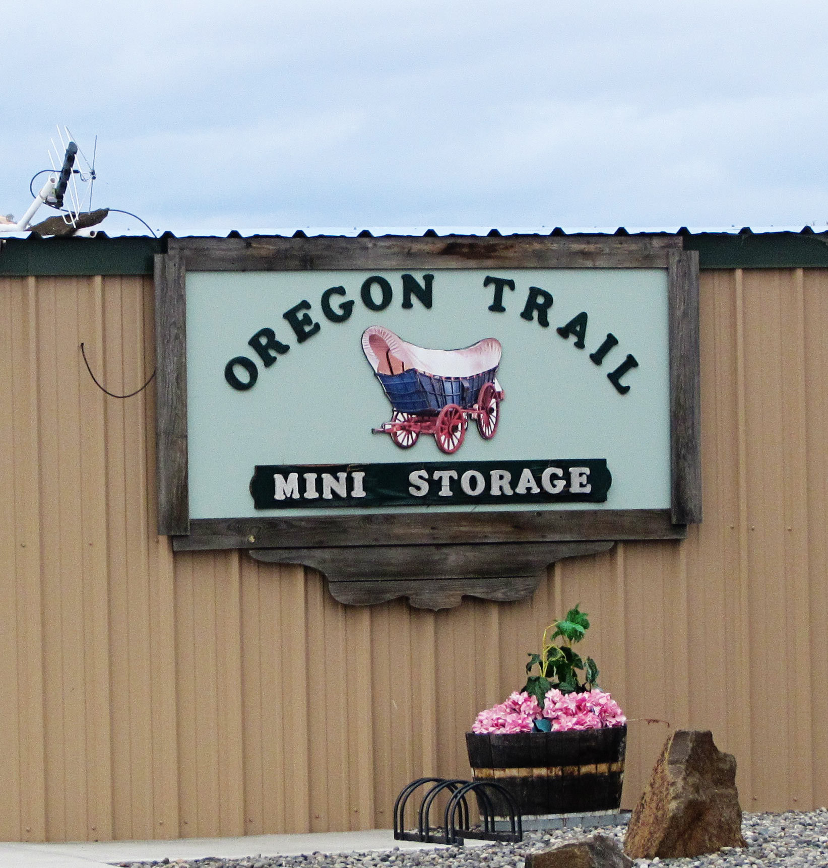 Mini Storage and Self Storage sign in The Dalles, Oregon