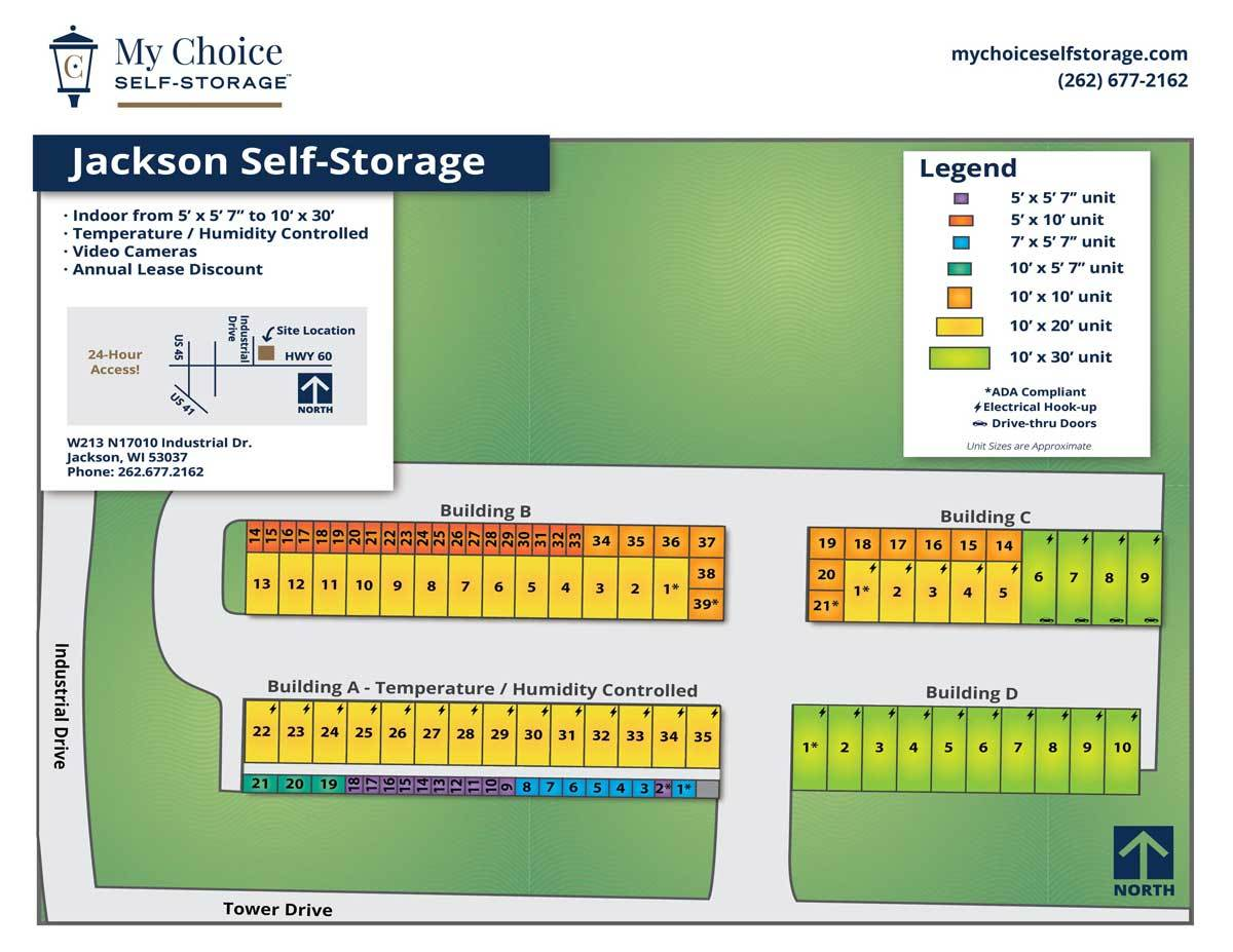 Jackson Storage Lot Map October 2019