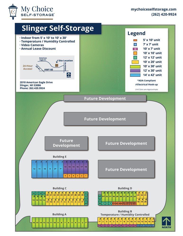 Slinger Storage Lot Map December 2019
