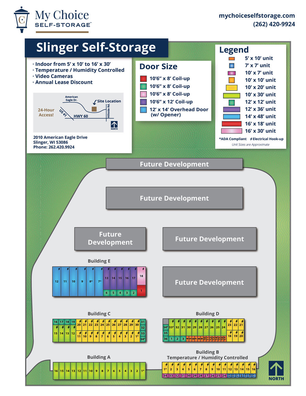 Slinger Storage Lot Map January 2020