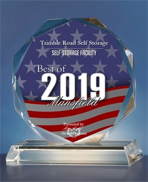Trimble Road Self Storage awarded a best of 2019 self storage facility for Mansfield, OH.