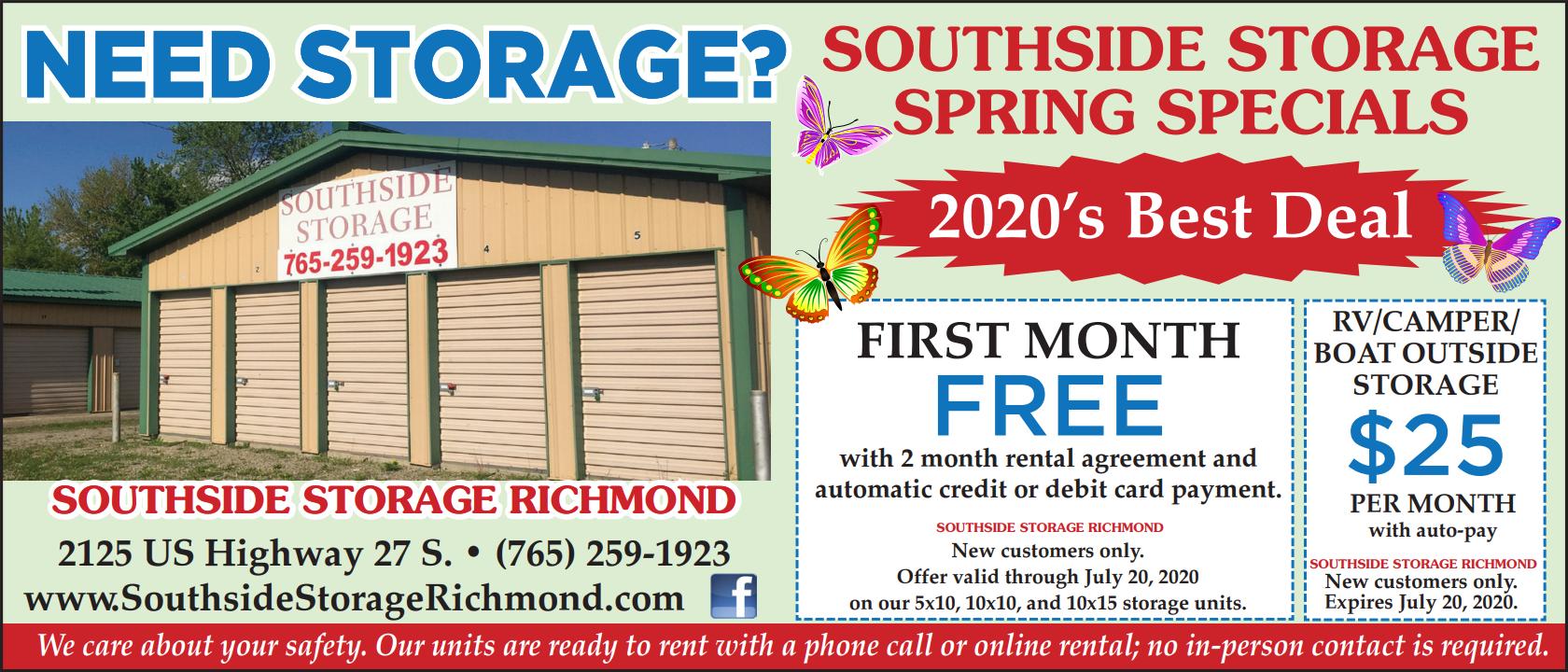 Need Storage? Southside Storage Spring Specials
