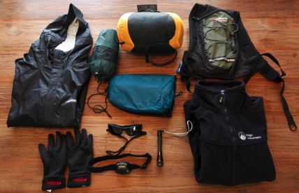 Recreational Equipment laid out for viewing