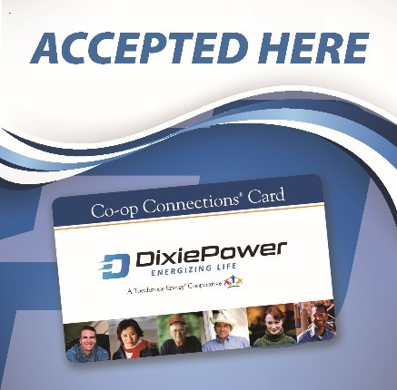 Armoured RV Storage Accepts Dixie Power Coop Connections Card