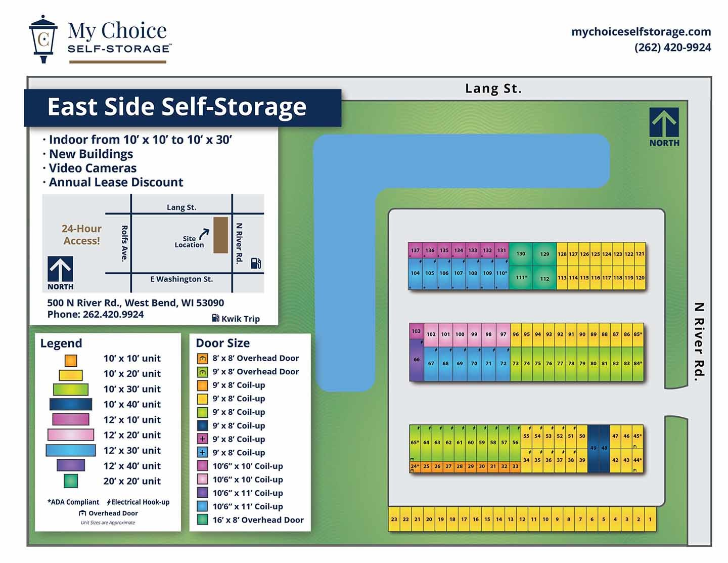 East Side Storage Lot Map August 2020