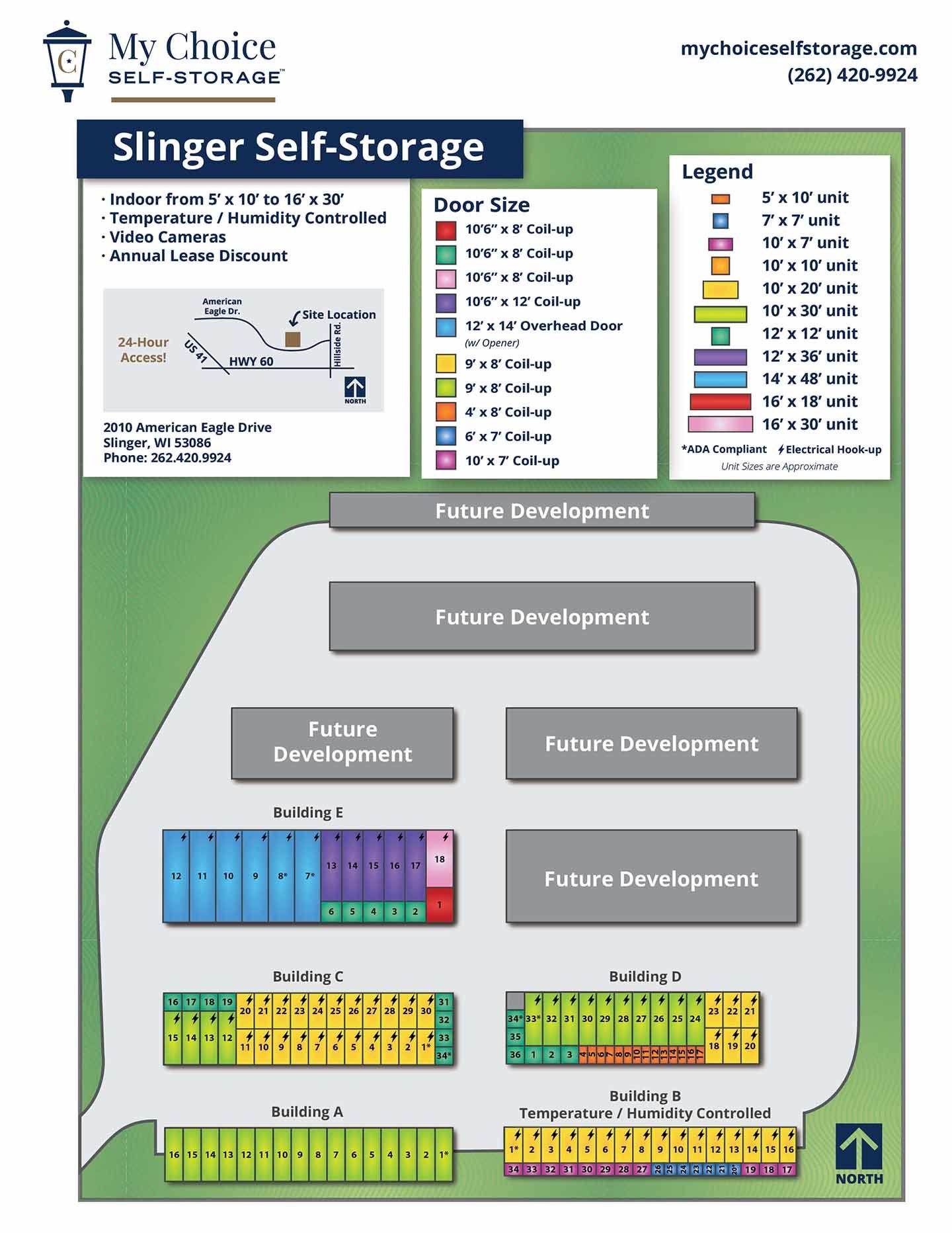 Slinger Storage Lot Map August 2020