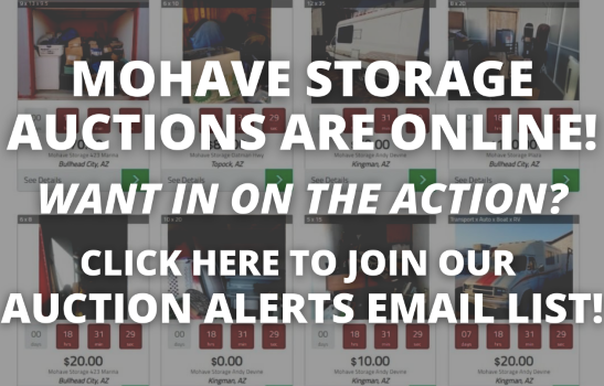 Click HERE to join Email Blast when new storage units are listed online for auction sale!