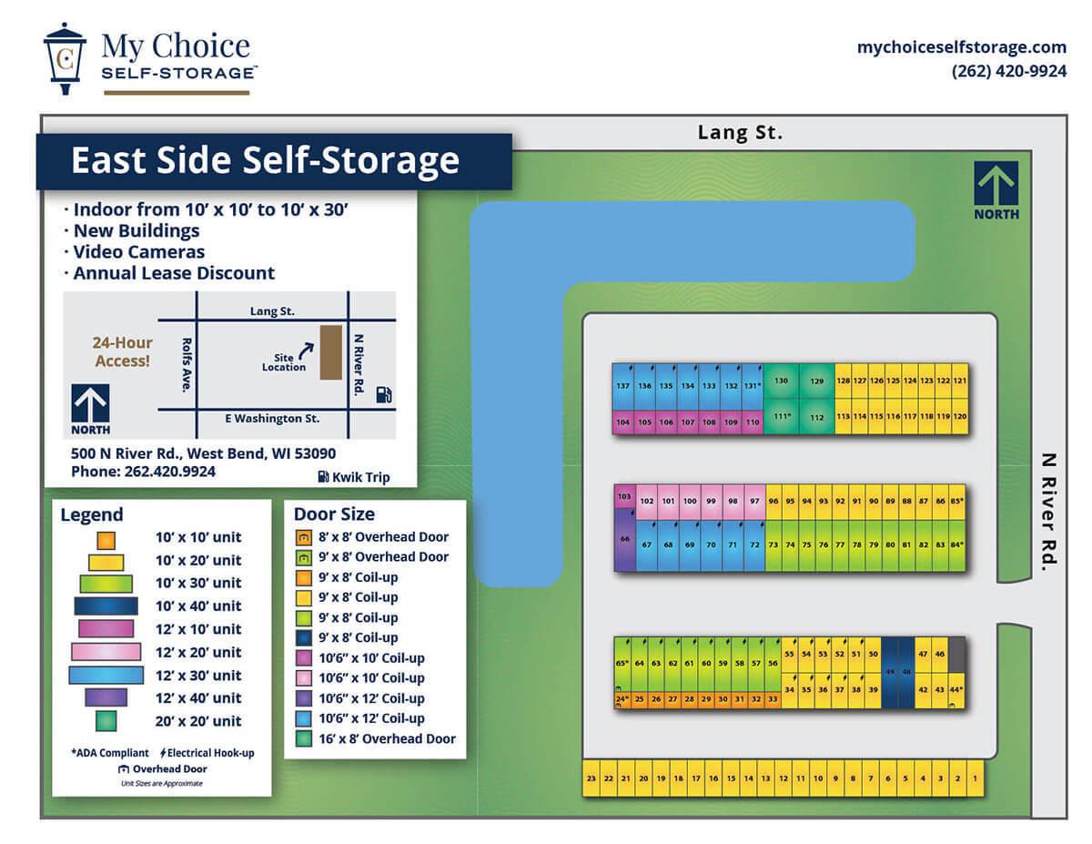 East Side Storage Lot Map October 2020
