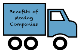 Blue moving truck with black wheels