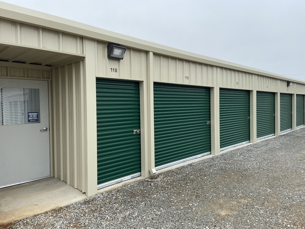 Photos of drive up self storage units