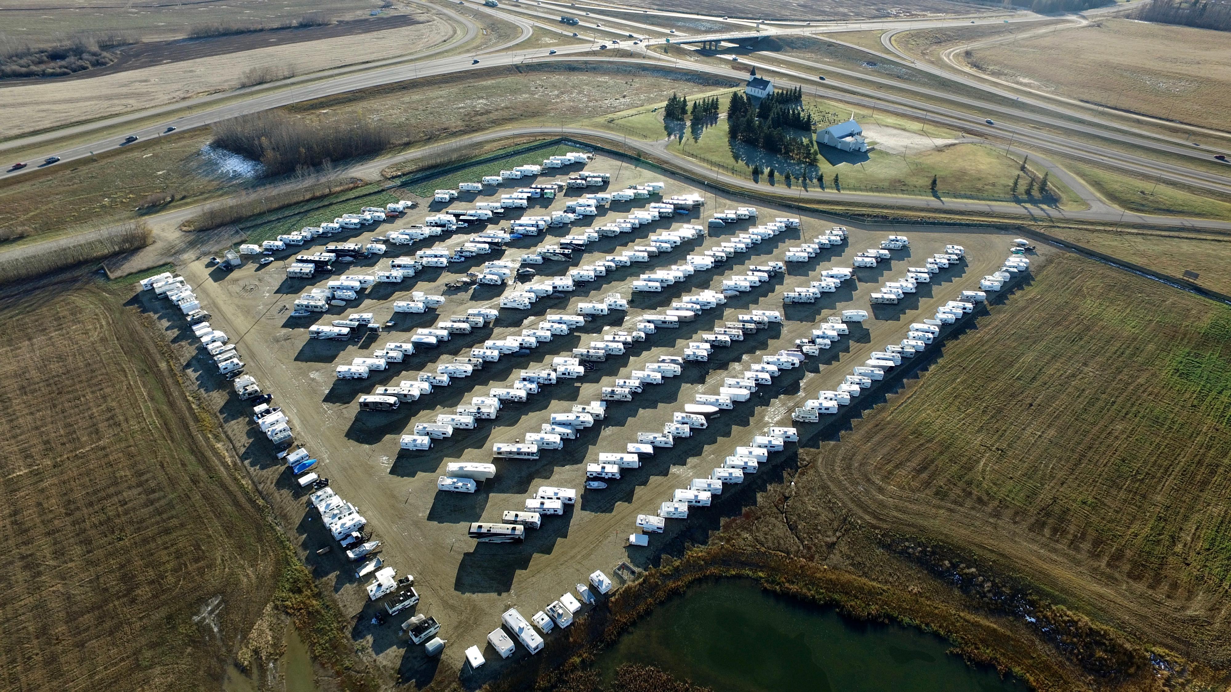 RV Parking Stalls Yellowhead Highway