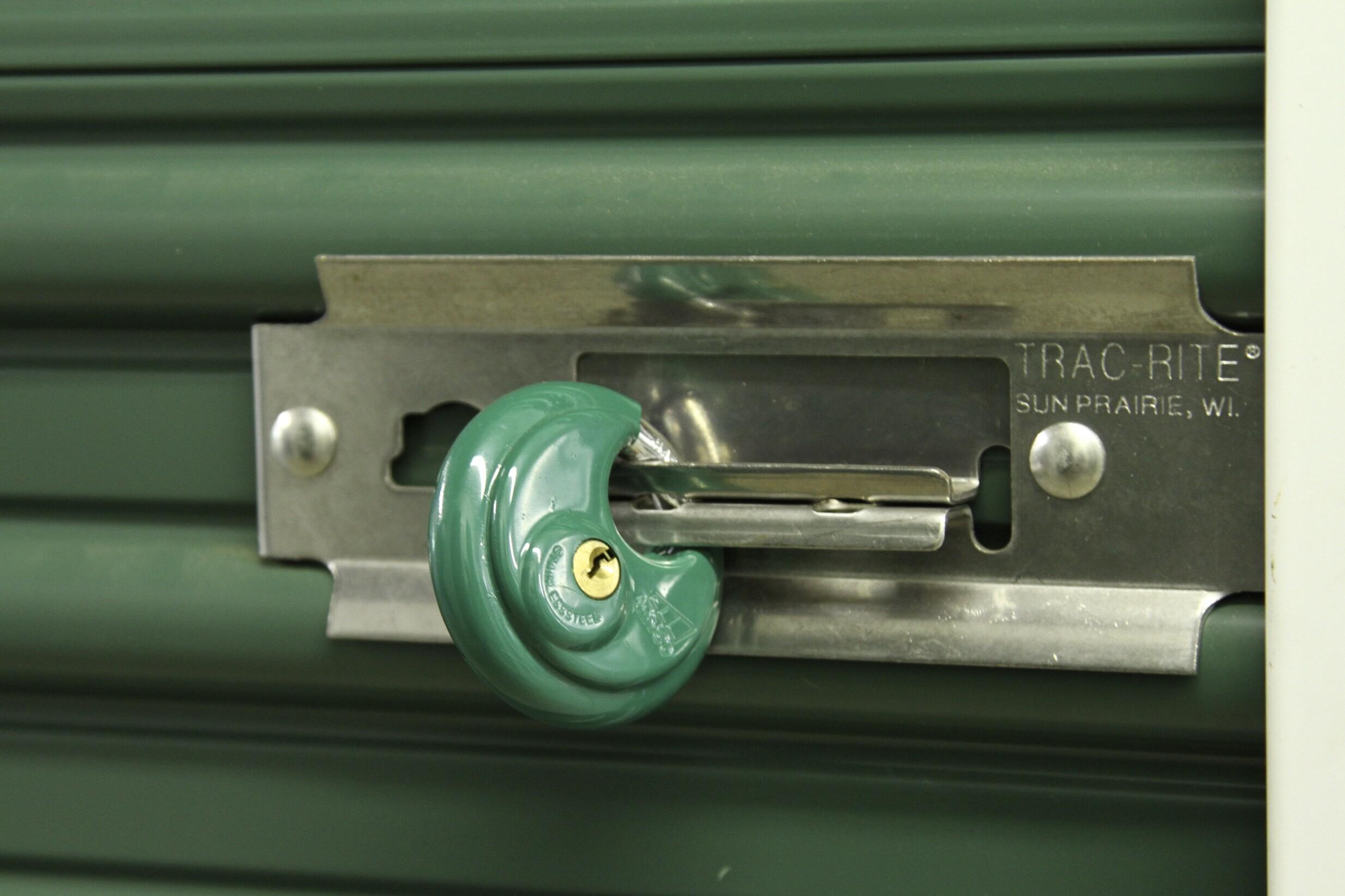 Secured circular self storage lock