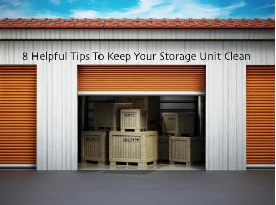Orange door storage unit