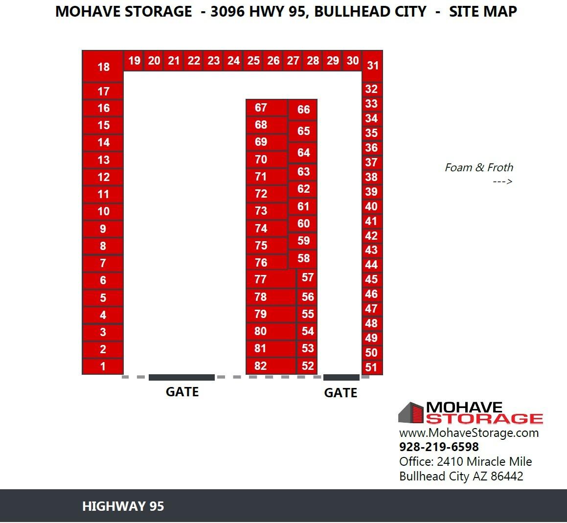 Site Map 3096 Hwy 95 Bullhead Prospective Tenants Mohave Storage