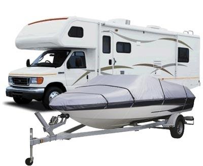 Out door boat, RV camper, trailer & vehicle storage