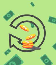 green cash falling