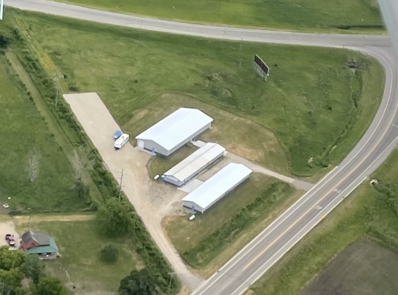 Aerial view of Airport Mini Storage, Climate controlled storage located in Austin, MN
