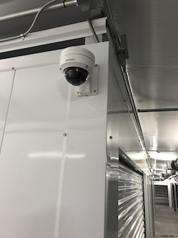 Onsite video surveillance and Bakus Self Storage
