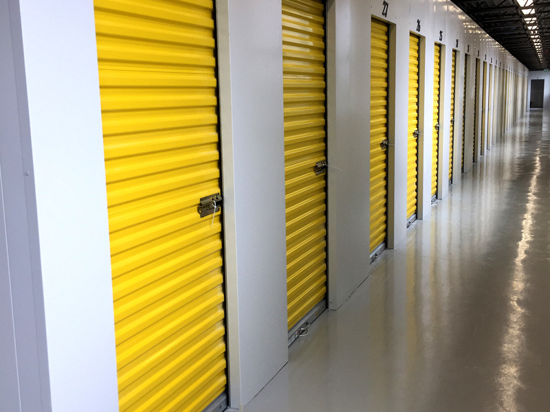 Image of Yellow Indoor Storage Units At Storage Solutions of Jonesboro.