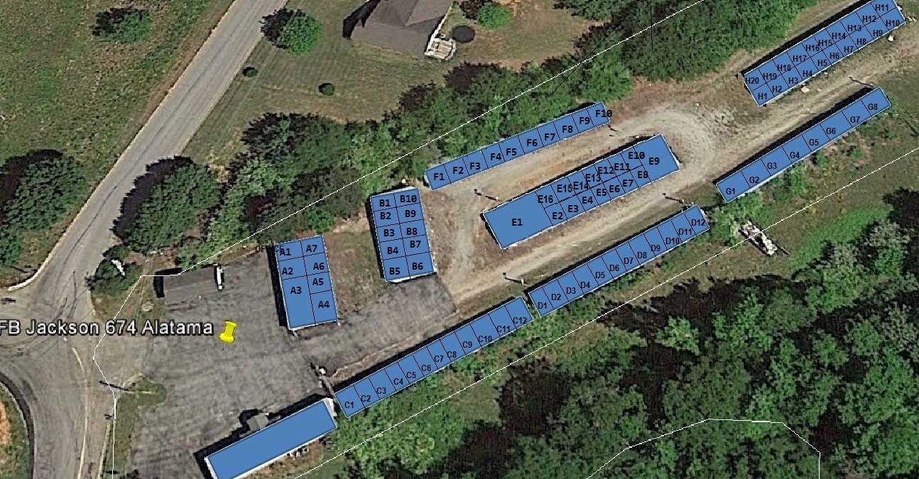 Layout of the facility at Jackson location